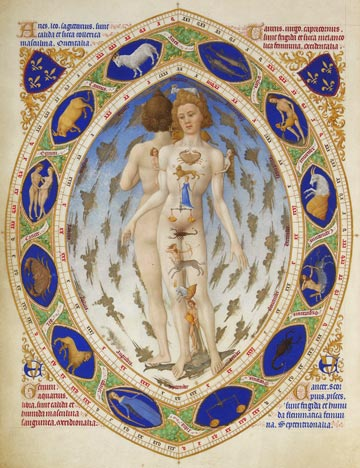 Anatomical Zodiac Man, from Très Riches Heures du Duc de Berry