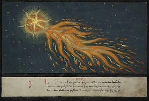 Comet from Book of Miracles c.1550