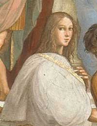 Hypatia - School of Athens by Raphael