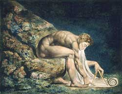 Sir Isaac Newton by William Blake